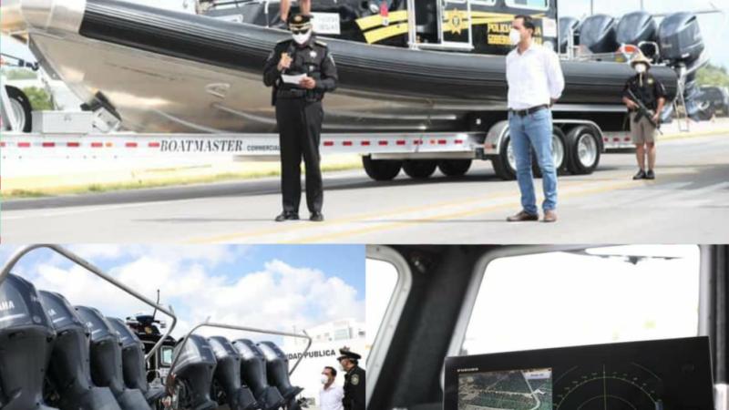 La SSP recibió dos lanchas rápidas para combatir a la delincuencia en costas yucatecas