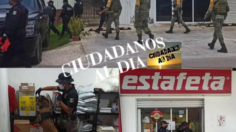 Fuerzas federales y estatales revisaron empresas de paquetería y mensajería en Valladolid
