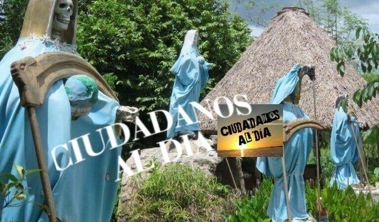 La presencia de adoradores en un santuario de la Santa Muerte, moviliza a policías de Tizimín