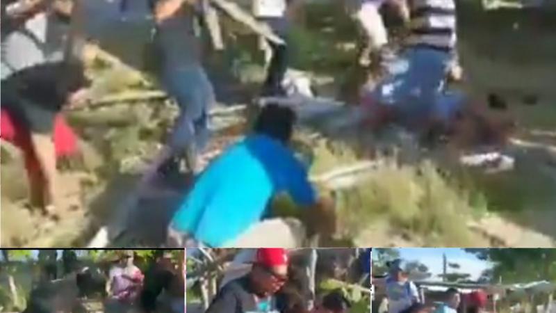 (video) Pescadores de Campeche se lían a golpes por terrenos de pesca, tres fueron lesionados.