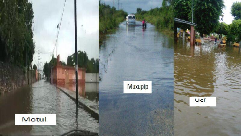 Las lluvias del frente frio número nueve dejó pueblos inundados