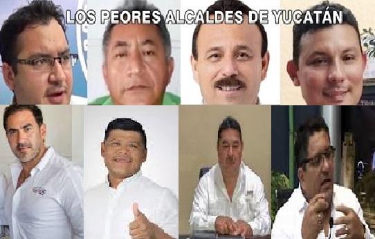 Los cuatro peores alcaldes de Yucatán que buscan la reelección