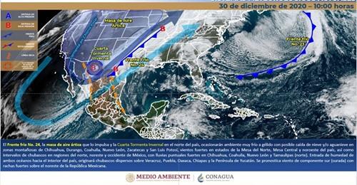 No habrá frio en Yucatán en la llegada del Año Nuevo, pero se pronostican chubascos para el viernes