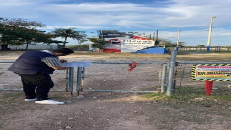 Agentes de la SSP suspendieron visoreo de futbol y clausuraron el campo de Cholul