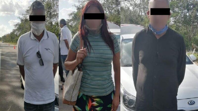 Tres colombianos detenidos por estafar a una abuelita yucateca