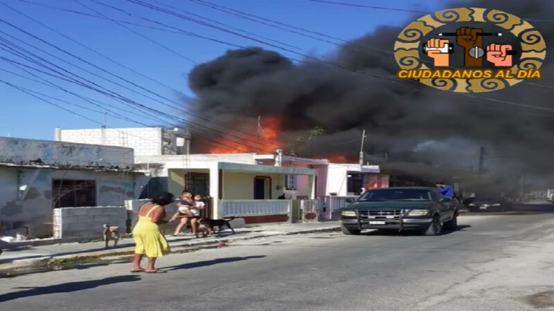 Una mujer se quema su casa mientras está hospitalizada en Progreso