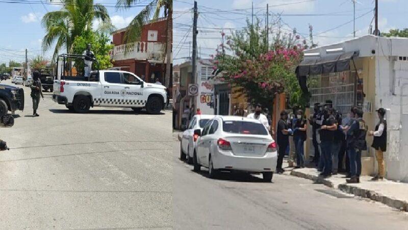 Tres detenidos por narcomenudeo en la colonia Bojórquez, en operativo policiaco.