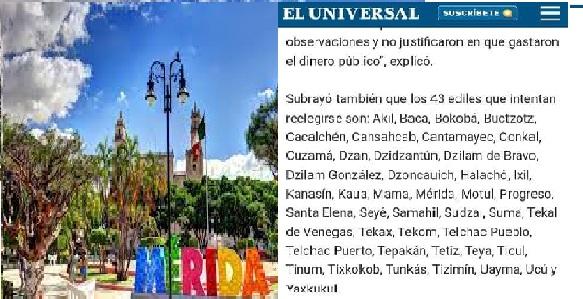 En ojo nacional 43 alcaldes yucatecos por falta de transparencia en sus cuentas publicas
