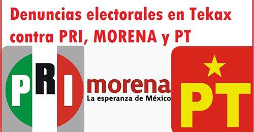 Denuncian a candidatos de PRI, MORENA y PT en Tekax: Presuntos delitos electorales