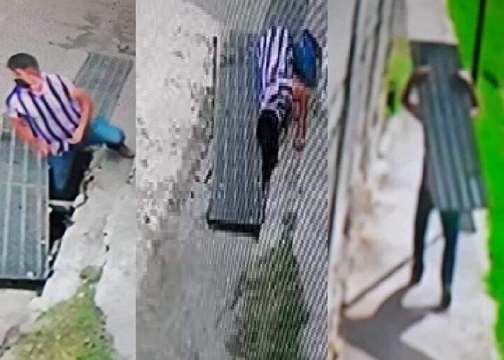 Rata de alcantarilla se roba rejilla metálica de la calle 110, en la colonia Mulsay