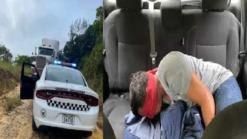 Guardia Nacional recupera tráiler robado y libera al chófer secuestrado