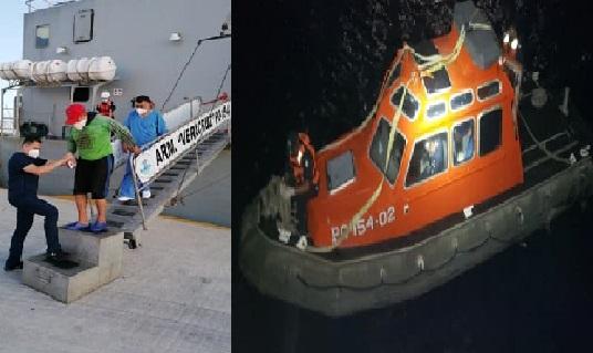 La SEMAR rescató a un pescador en altamar con problemas respiratorios
