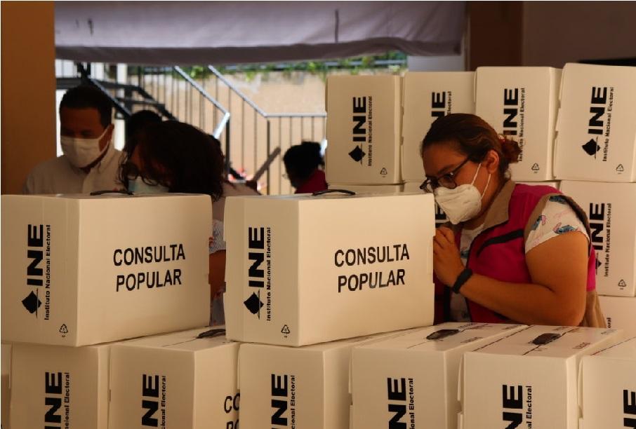 INE Yucatán recibió 1.6 millones de papeletas para consulta popular