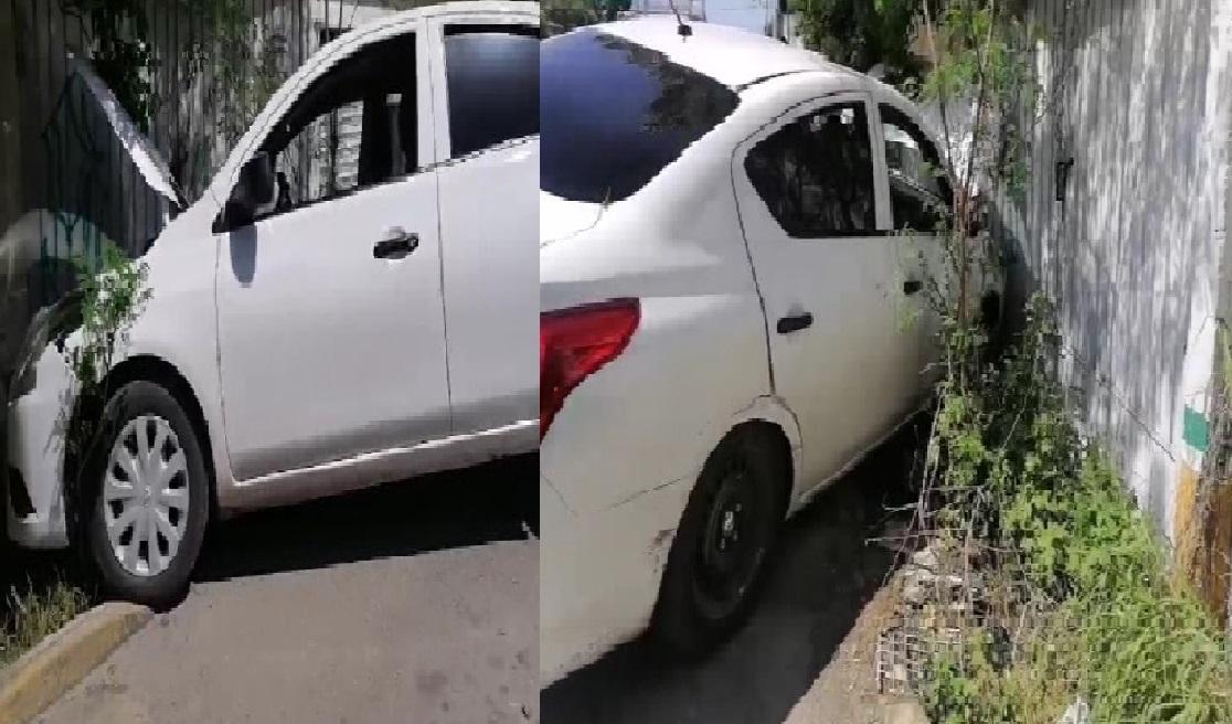 El conductor de un Tsuru choca a un Versa y se da a la fuga en el Oriente de Mérida