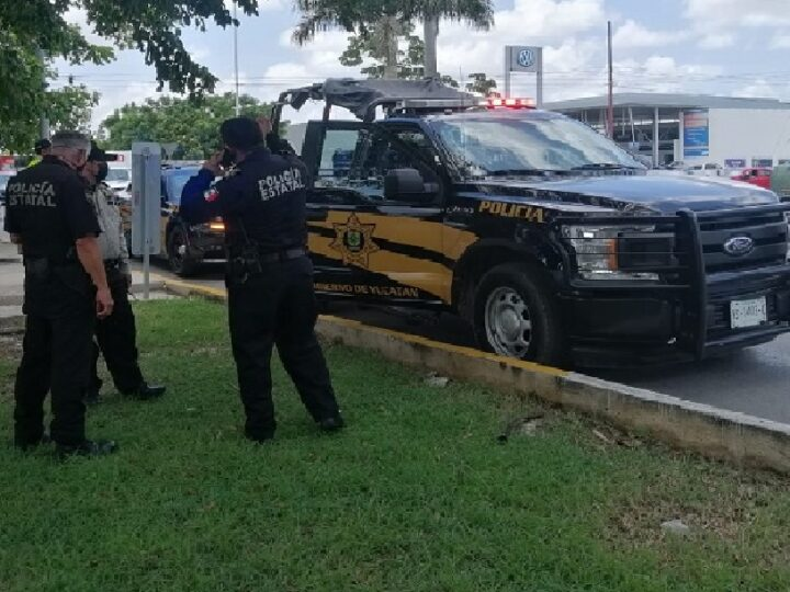 Le llego el karma a la SSP, un automovilista atropelló a un policía y se dio a la fuga