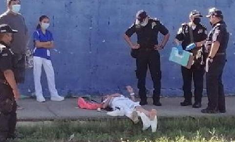 Policía Estatal atropella, lesiona a una enfermera y huye cobardemente