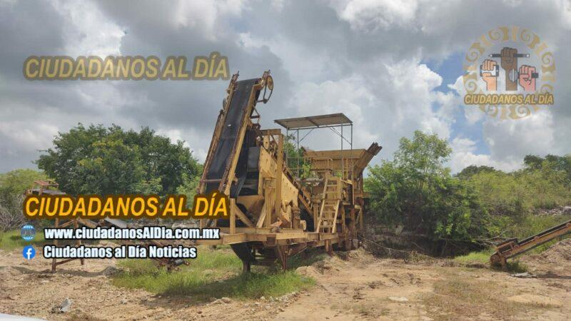 La FGR aseguró maquinaria pesada y explosivos por daños ambientales en Paraíso, Progreso