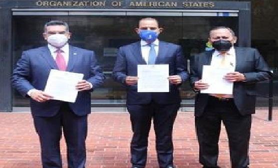 PRI, PRD, PAN denunciaron a AMLO ante la OEA para que sea investigado por nexos con el narco.