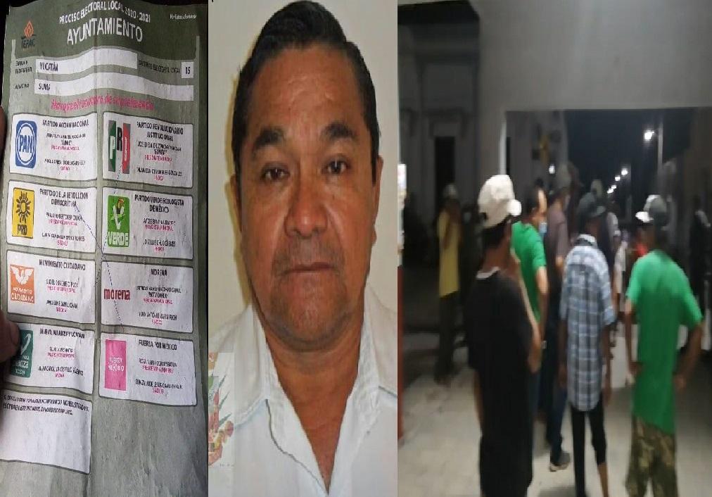Enardecida toma de protesta en Suma De Hidalgo, dicen que el alcalde se robó la pasada lección