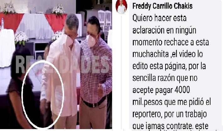 Fredy Carrillo dice que no rechazo a una niña por ser pobre en su toma de protesta como alcalde de Tzucacab