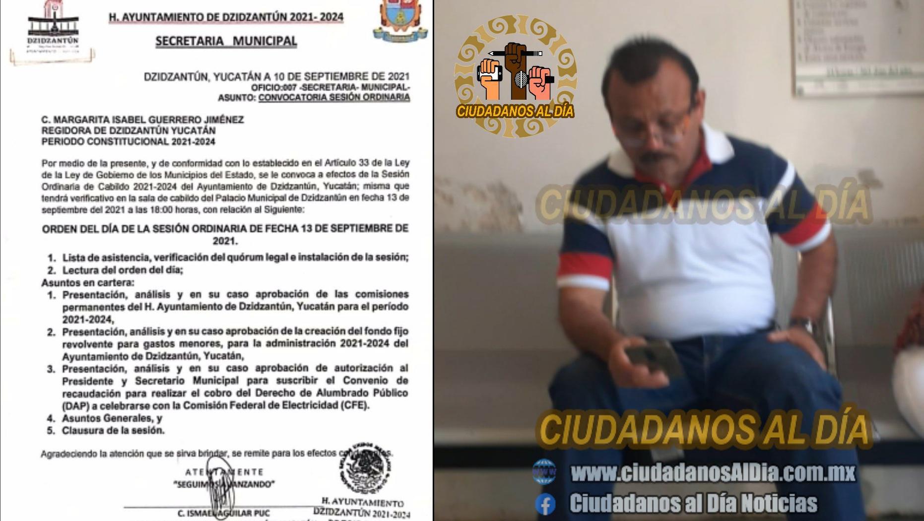 El alcalde de Dzidzantún pretende crear una caja chica para disponer a su antojo dinero de la comuna.