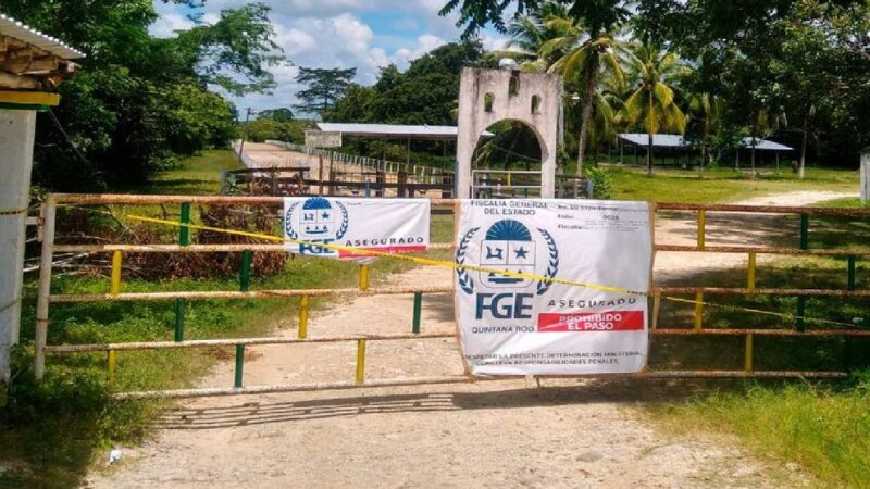 La FGE encuentró una osamenta humana dentro de un contenedor en un rancho en Chetumal