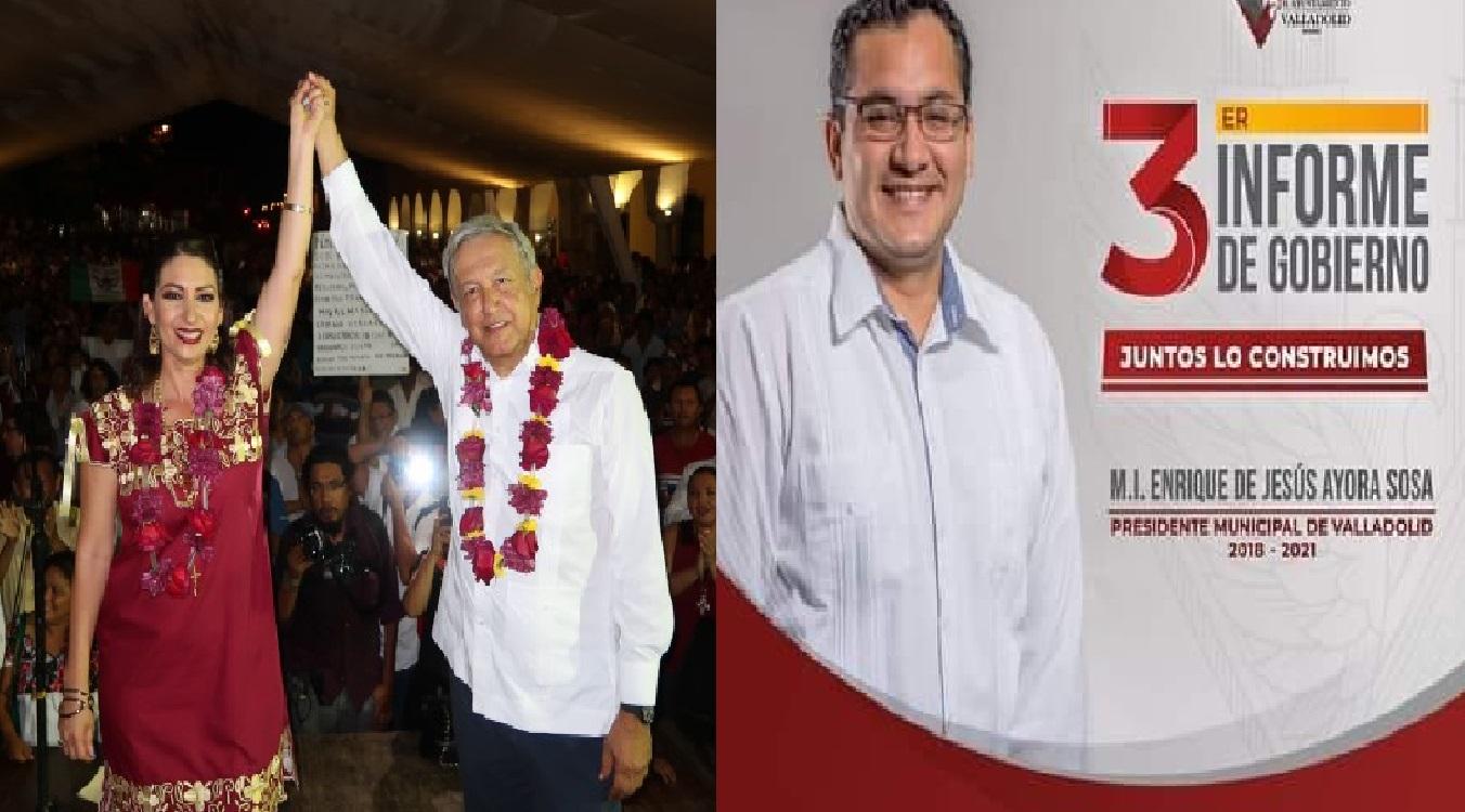 Ex alcaldes de Valladolid no pueden justificar más de 70 millones de pesos, AMLO los protege.