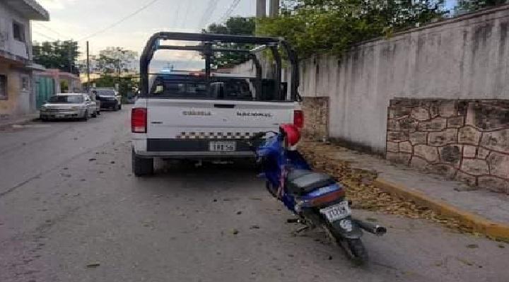 Motociclista quedo en coma después de ser atropellado por la Guardia Nacional