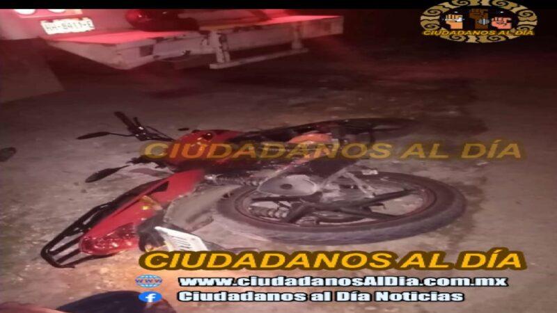Motociclistas chocan contra una pipa en el entronque de Ticuch hacia Yalcobá