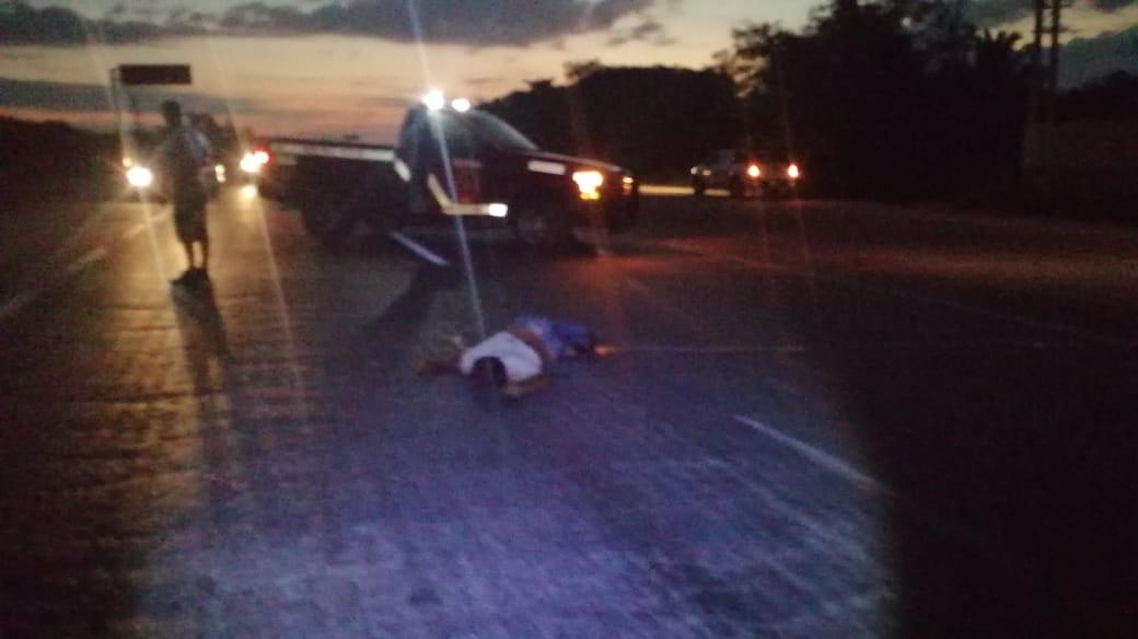 Empleado de la Coca cola choca y mata a un motociclista en la vía Motul- Mérida