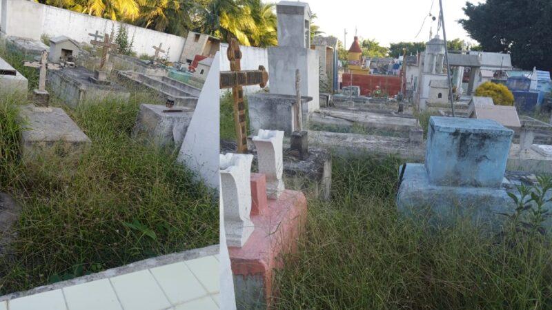 El cementerio es un asco como lo tiene la comuna de Dzidzantún, denuncian