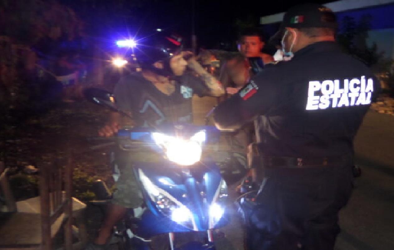 Patrulla de Motul choca y lesiona a un motociclista luego se dio a la fuga