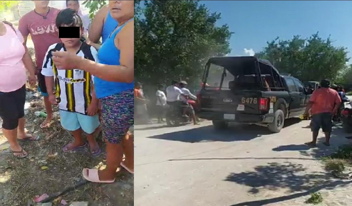 Robachicos intentaron sustraer a un menor en Celestún, no hay detenidos